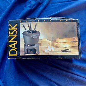 🔥 Dansk Vintage Cast Iron Fondue Set 🔥